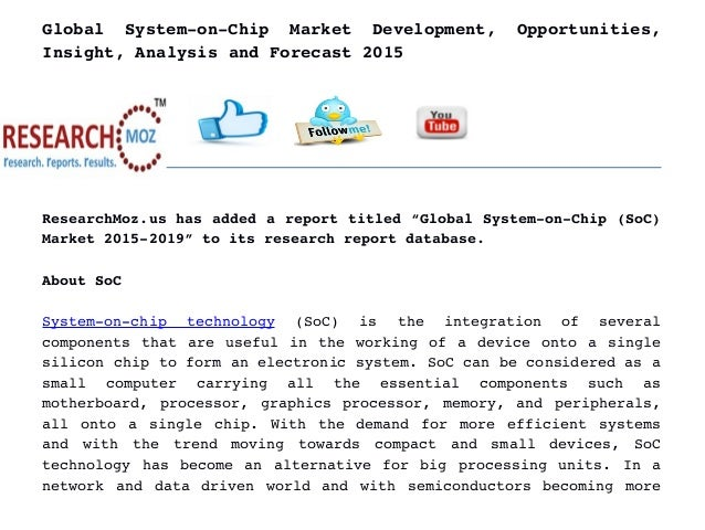 system on chip overview essay The remaining assessment is through presentations and essays where, in  particular,  introduction to business information systems, bman21061, 10,  optional.