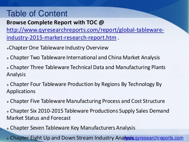... 4.  sc 1 st  SlideShare & Global tableware market 2015 industry analysis trends research grou2026