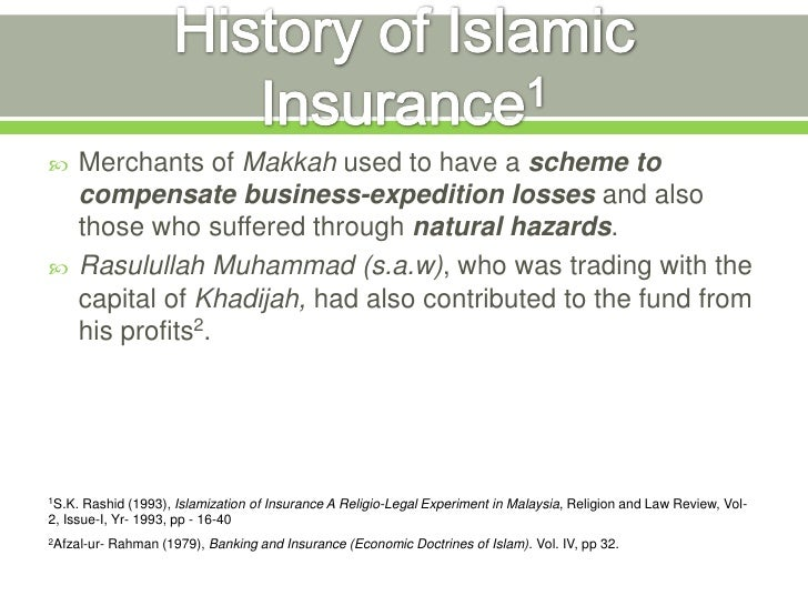 Image result for history of insurance in islam