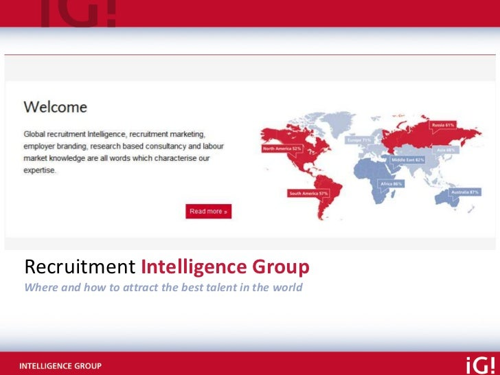 Recruitment Intelligence GroupWhere and how to attract the best talent in the world