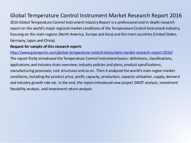 Global Temperature Control Instrument Market Research Report 2016 2016 Global Temperature Control Instrument Industry Repo...