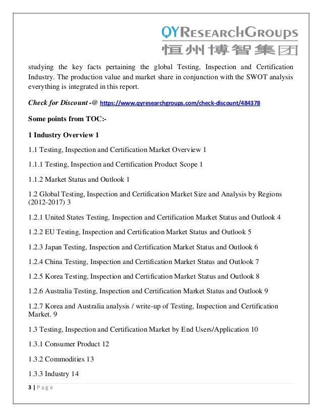 Testing Inspection And Certification Market Analysis Trends Growth