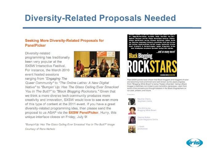 Diversity-Related Proposals Needed