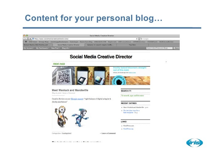 Content for your personal blog…
