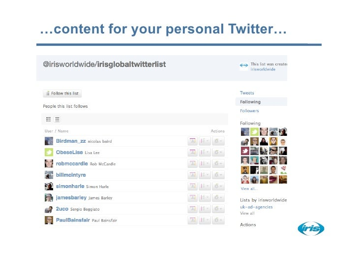 …content for your personal Twitter…
