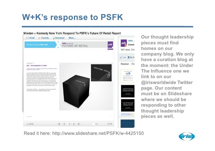 W+K's response to PSFK                                                      Our thought leadership                        ...