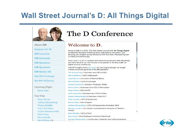 Wall Street Journal's D: All Things Digital