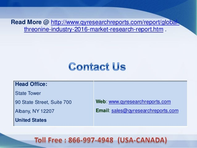 Head Office: State Tower 90 State Street, Suite 700 Albany, NY 12207 United States Web: www.qyresearchreports.com Email: s...