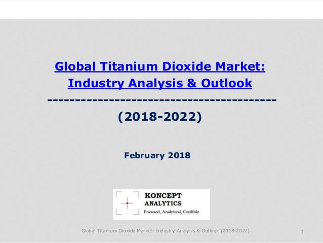 Global Titanium Dioxide Market: Industry Analysis & Outlook ----------------------------------------- (2018-2022) Industry...