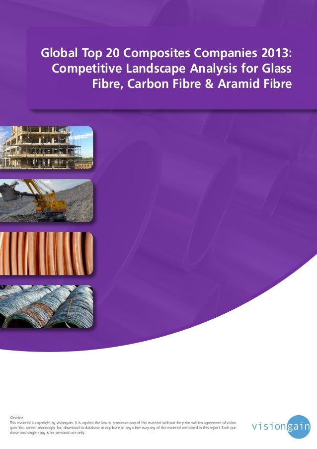 Global Top 20 Composites Companies 2013: Competitive Landscape Analysis for Glass Fibre, Carbon Fibre & Aramid Fibre  ©not...