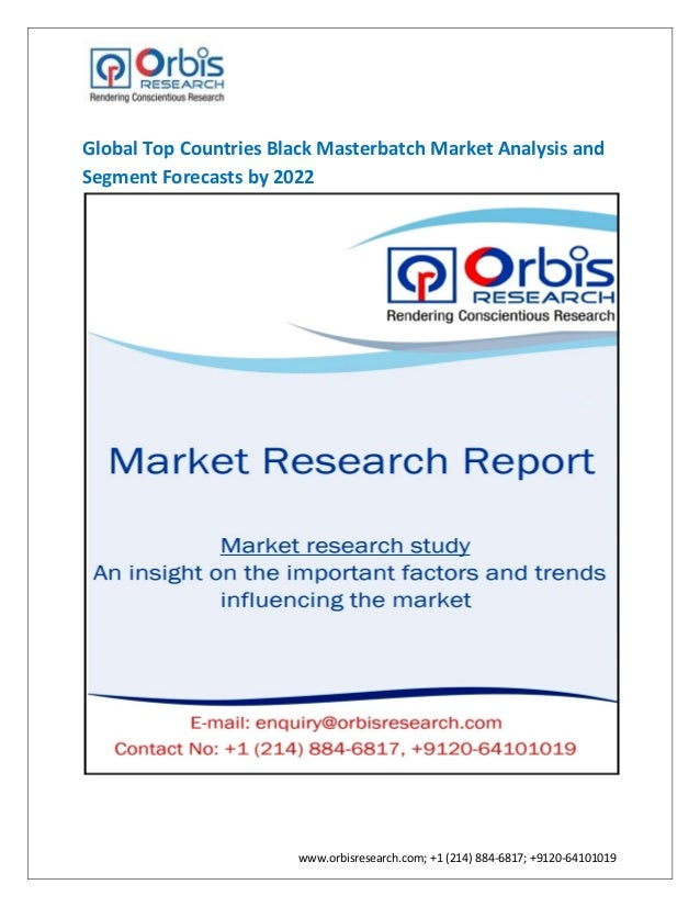Global top countries black masterbatch market by 2022
