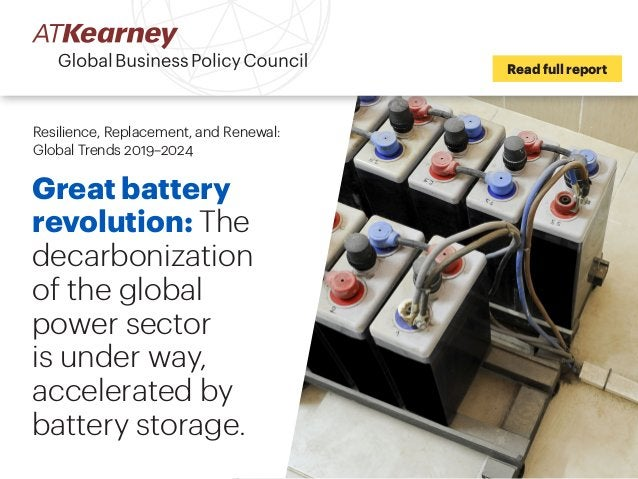 Great battery revolution: The decarbonization of the global power sector is under way, accelerated by battery storage. Rea...