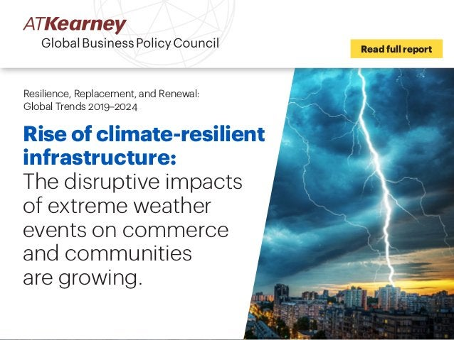 Rise of climate-resilient infrastructure: The disruptive impacts of extreme weather events on commerce and communities are...