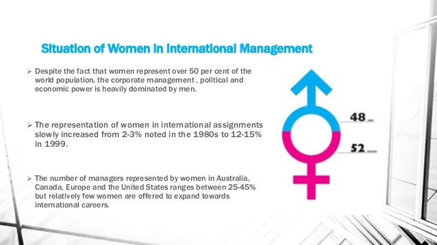 international assignments for women managers International hr managers are also exposed to other  executives may either mistakenly assume that women do not want international assignments,  chap19txt author.