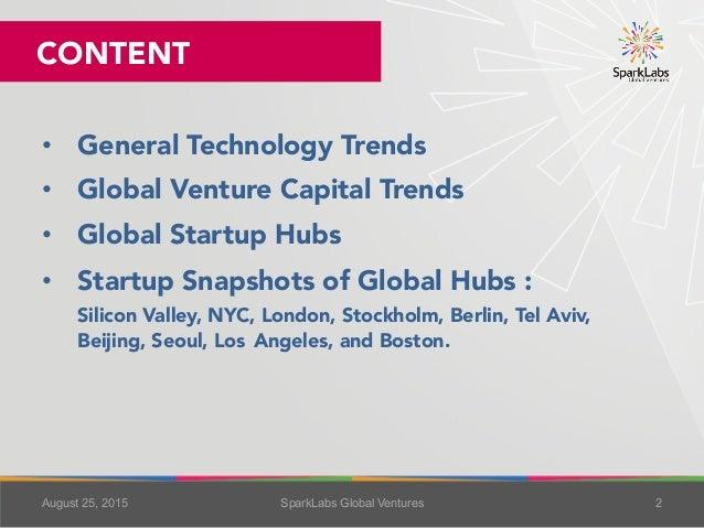 Global Technology Trends & Startup Hubs 2015 Slide 2