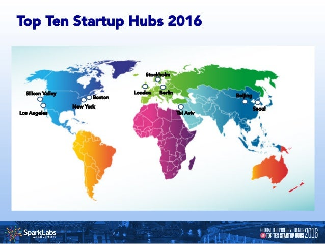 What defines a leading global startup hub? • Engineering Talent • Entrepreneurs / Mentors • Technical Infrastructure • ...