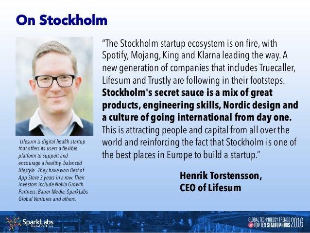 Startup Snapshots of Stockholm STOCKHOLM