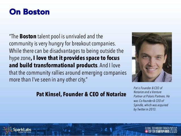 Startup Snapshots of Boston BOSTON