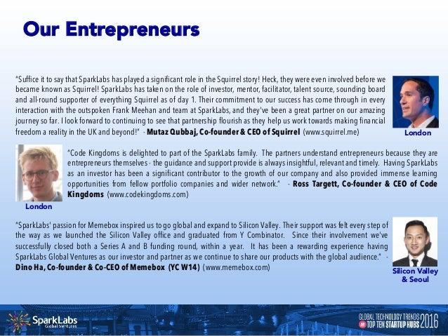 Global Technology Trends & Top Ten Startup Hubs 2016