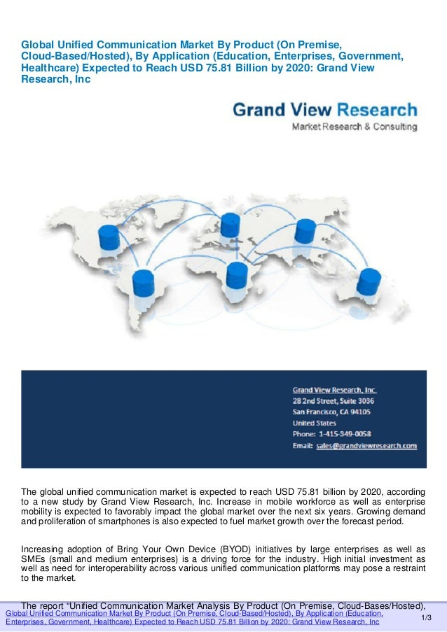 "global unified communication market worth 75 81 Yealink (stock code: 300628) is a global leading unified communication (uc) solution provider that primarily offers video conferencing systems and voice communication solutions founded in 2001, yealink leverages its independent research and development and innovation to pursue its core mission: ""easy collaboration, high productivity""yealink is the world's second-largest sip phone."