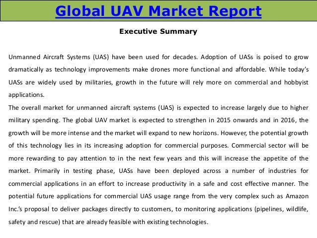 global unmanned aerial vehicle industry 2015 Need unmanned aerial vehicle (uav) manufacturing industry data industry  statistics are available in these  industry statistics & market size revenue $4 bn.