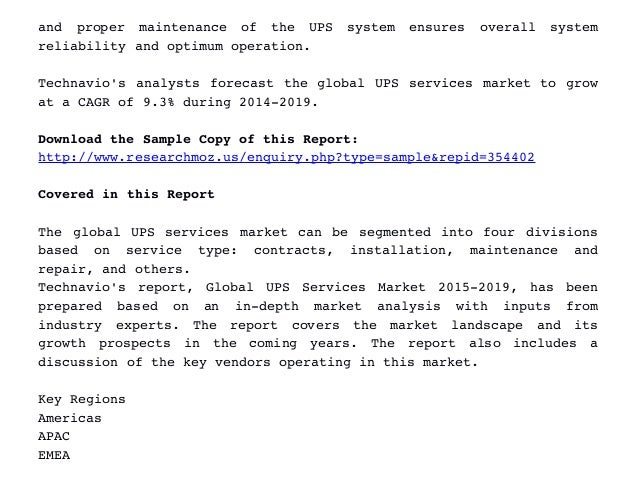 global ups market Data center ups market size is estimated to reach usd 665 billion by 2022, as per a new research report by global market insights, inc amplifying acceptance of cloud computing coupled with falling tolerance limits pertaining to data loss are likely to boost global demand over the forecast period.