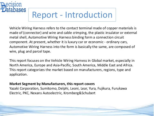 global vehicle wiring harness market by manufacturers countries type and application forecast to 2022 3 638?cb=1486549166 global vehicle wiring harness market by manufacturers, countries, typ global sourcing wire harness decision case study at mr168.co
