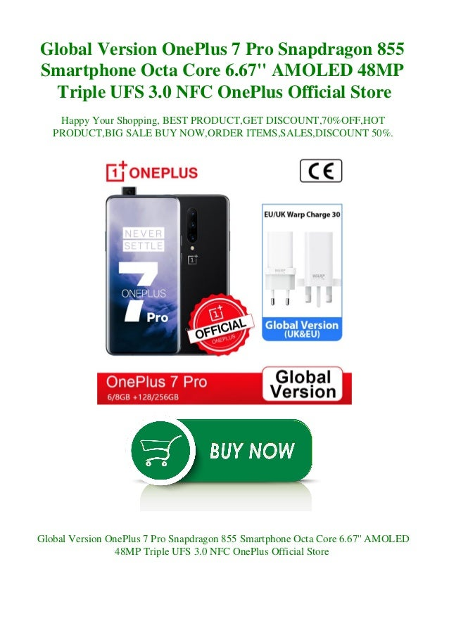 Global Version OnePlus 7 Pro Snapdragon 855 Smartphone Octa Core 6.67'' AMOLED 48MP Triple UFS 3.0 NFC OnePlus Official St...