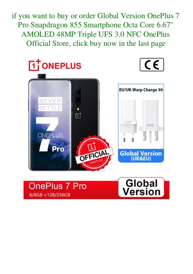 Global version one plus 7 pro snapdragon 855 smartphone octa core 6.67'' amoled 48mp triple ufs 3.0 nfc oneplus official store  Slide 3