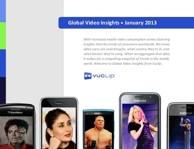 Global Video Insights • January 2013      With increased mobile video consumption comes stunning      insights into the mi...