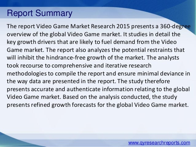 home video game industry analysis Npd's entertainment market research offers music and video industry analysis to best equip home entertainment video game market.