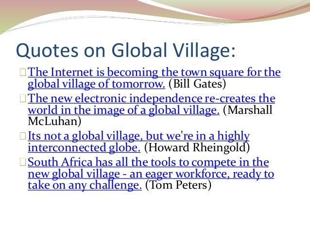 world as a global village essays