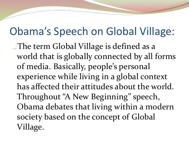 what make the world a global village
