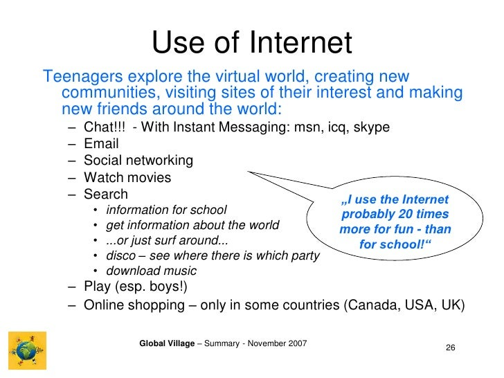 Internet Global Village and Author Marshall McLuhan
