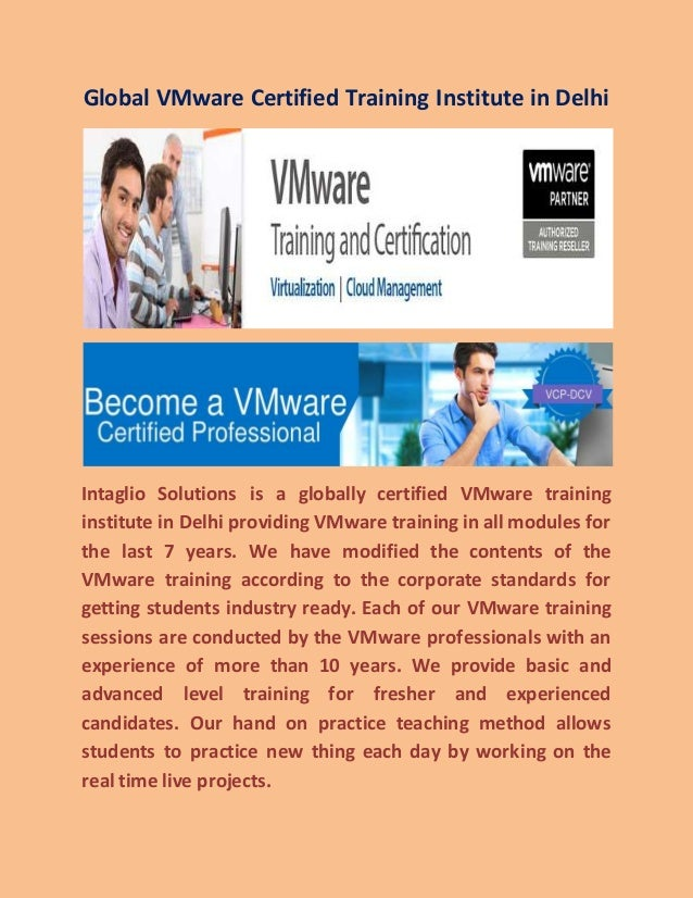 Global Vmware Certified Training Institute In Delhi