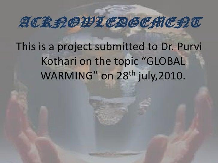 Global warming Slide 4