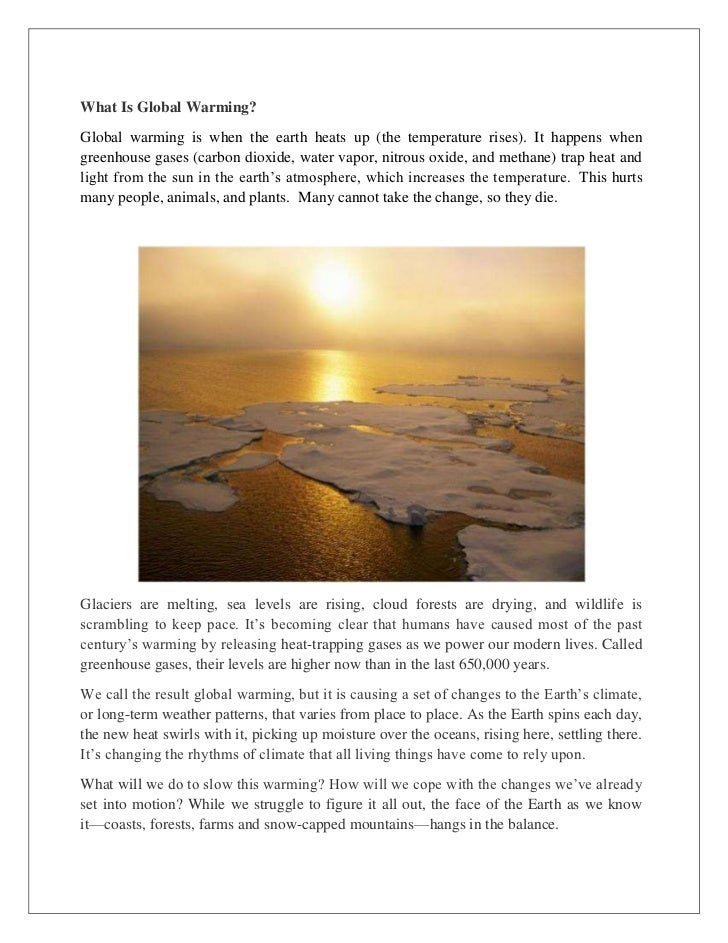 global warming projects students pdf free
