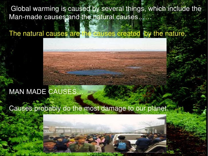Global warming man made or natural essay