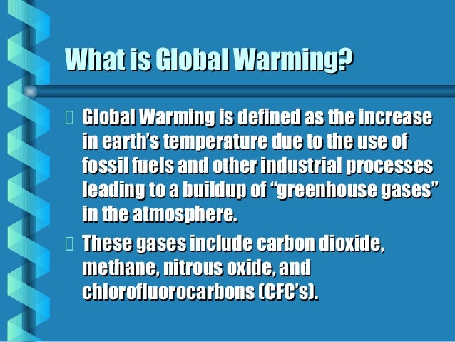 Extended definition of global warming