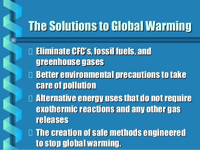 ways to help stop global warming