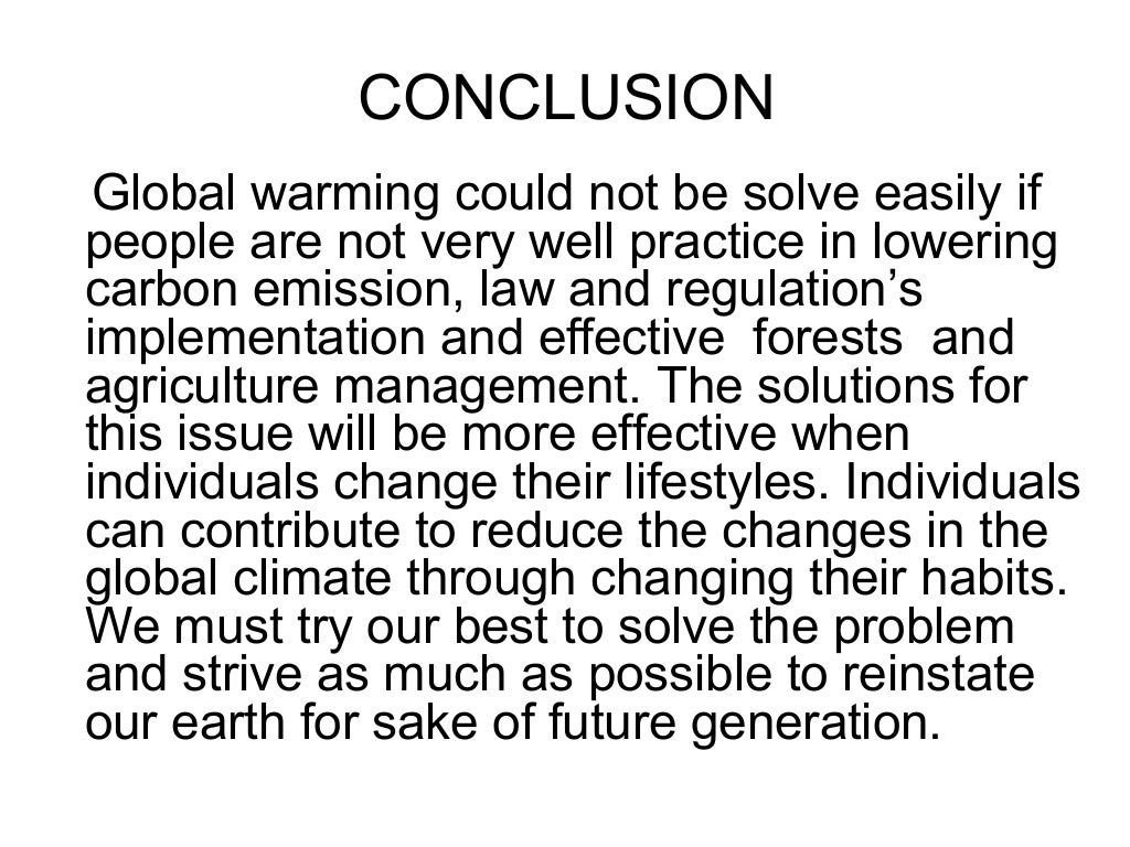 Problems of global warming essay