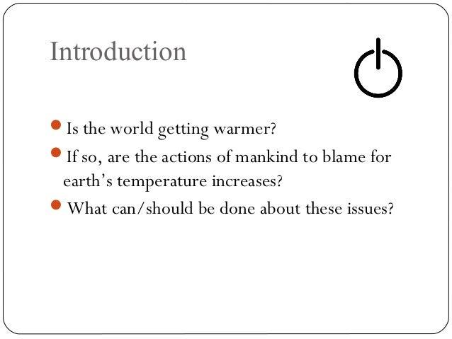 Global warming Slide 2