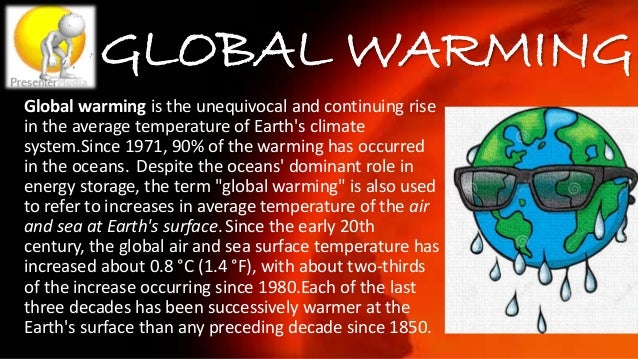 OBSERVED TEMP CHANGES The Earth's average surface temperature rose by 0.74±0.18 °C over the period 1906–2005. The rate of ...