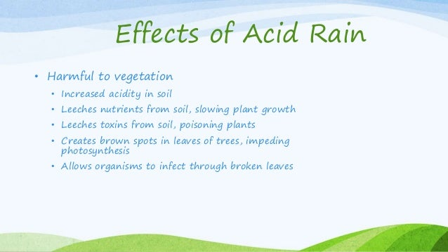 Global warming & acid rain