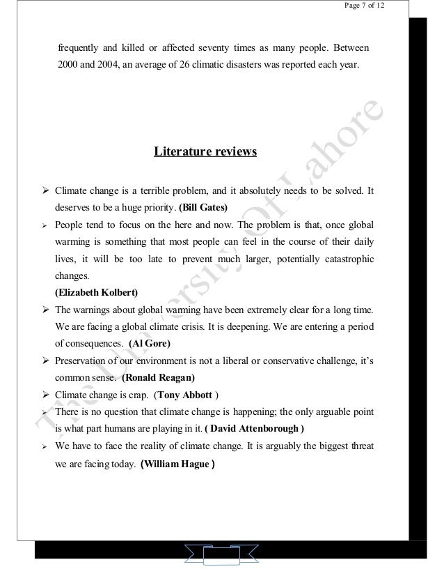literature review on global warming How to write a paper on global warming  a lot of literature and tv programs introduce us in the latest changes in global  to have some time to review the.