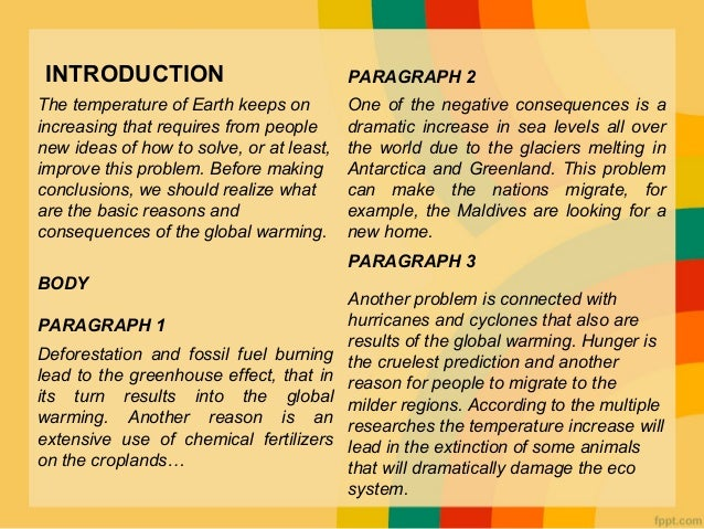 explanation essay about global warming Global warming is essentially the average increasing temperature in the atmosphere as a result of greenhouse gases these gases absorb and store heat.
