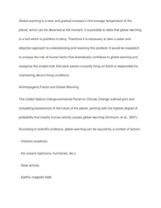 resolving the global warming problem essay This paper assesses and argues against positions that suggest that the  the  consumer is key to resolving the problem of global warming.