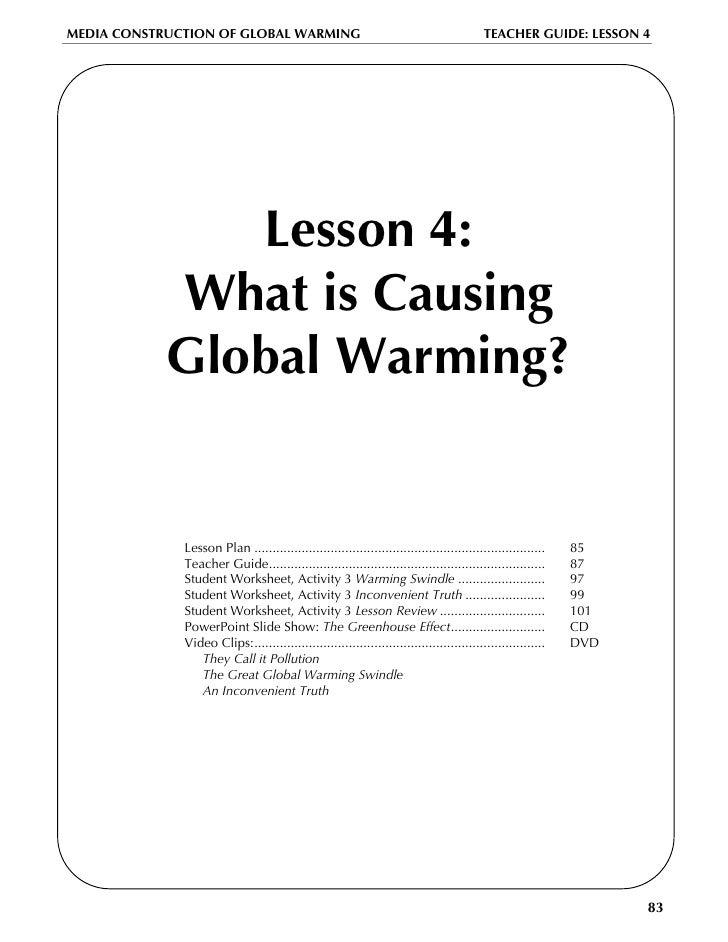 Global warming lesson plan