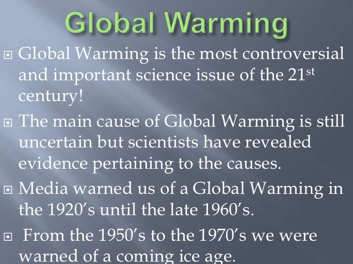 global warming issue essay