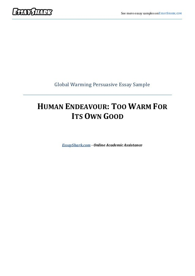Against global warming persuasive essay